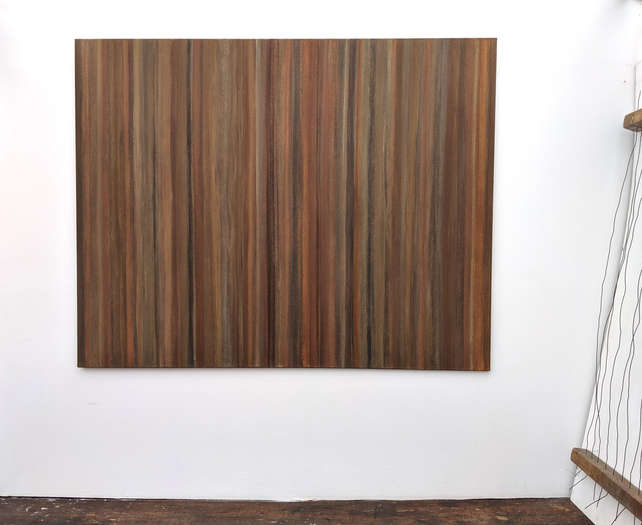 Back to Earth | 2014 – 2019 | soil from Germany, USA, Greece, France & Croatia | acrylic on cotton | 150 x 190 cm
