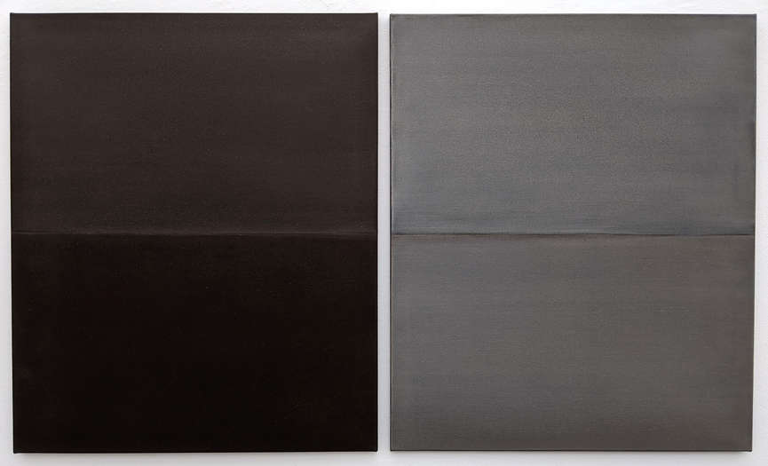 Another Day, Another Horizon no. 2 & 3 | 2020 | soil from Bavaria, Germany on linen | ea. 90 x 75 cm