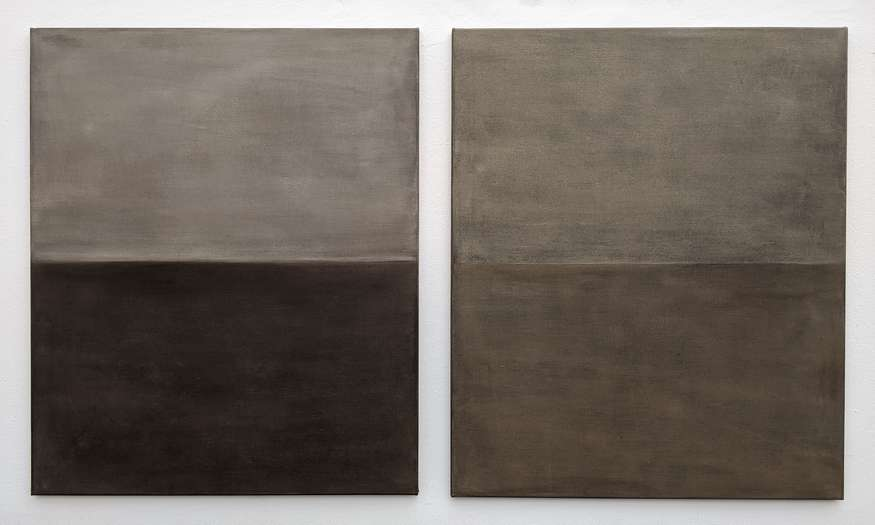Another Day, Another Horizon no. 7 & 6 | 2020 | soil from Bavaria, Germany on linen | ea. 90 x 75 cm